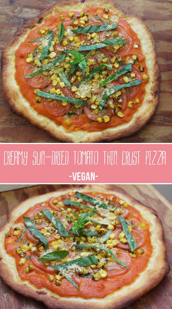 Creamy Sun-dried Tomato Pizza | Zena 'n Zaatar