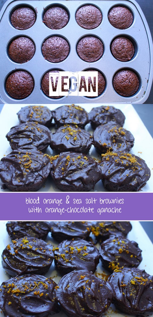 vegan orange brownies pinterest