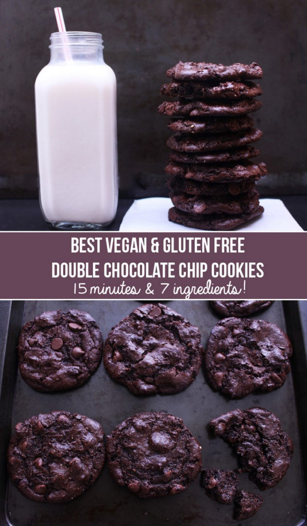 Best Vegan & Gluten-Free Double Chocolate Cookies | Zena 'n Zaatar
