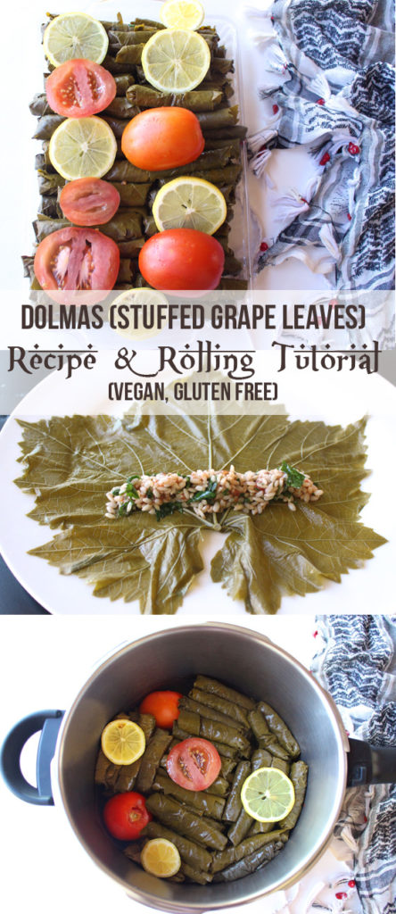 Dolmas (Yalanji) Stuffed Grape Leaves Rolling Tutorial & Recipe [Vegan, GF] | Zena 'n Zaatar