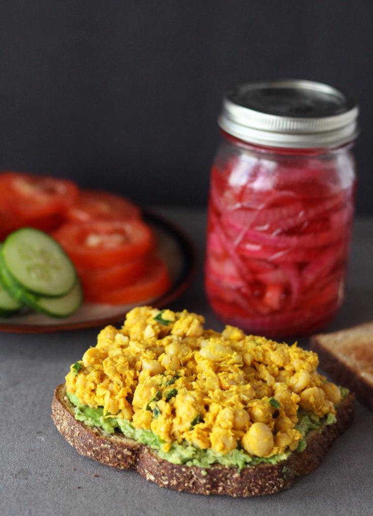 mediterranean chickpea salad sandwich vegan zena zaatar zenanzaatar vegetarian tuna chickpeas smashed rainbow recipe arabic