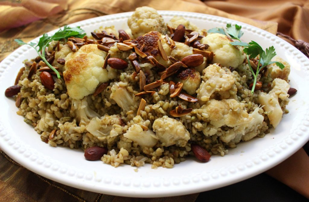 arabic cauliflower freekeh vegan vegetarian mediterranean food blog recipe zenanzaatar syrian lebanese
